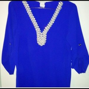 Tops - Royal blue blouse